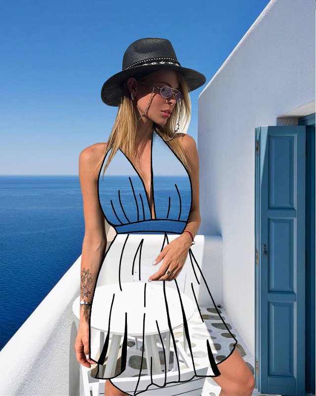 #freetoedit #magicalphotography #editedbyme #transparent #transparentdress #girl #dress #greece #sea #summer