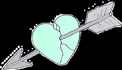 love heart arrow brokenheart freetoedit