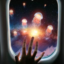 jellyfish space galaxy universe freetoedit