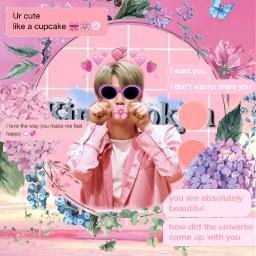 aesthetic bts jin pink edit freetoedit
