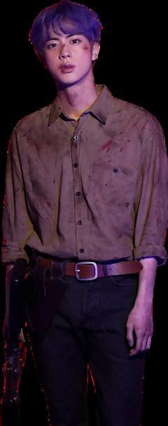 bts jin seokjin zombie hunter freetoedit