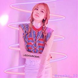 lisa lisablackpink lalisamanoban freetoedit ecneonswirls neonswirls neon