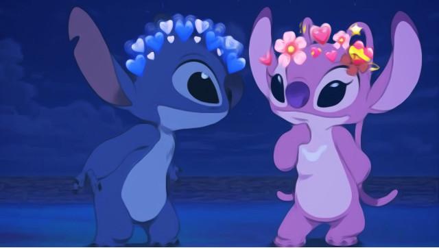 uwu #liloandstich #stitch #angel #blue #pink  #freetoedit