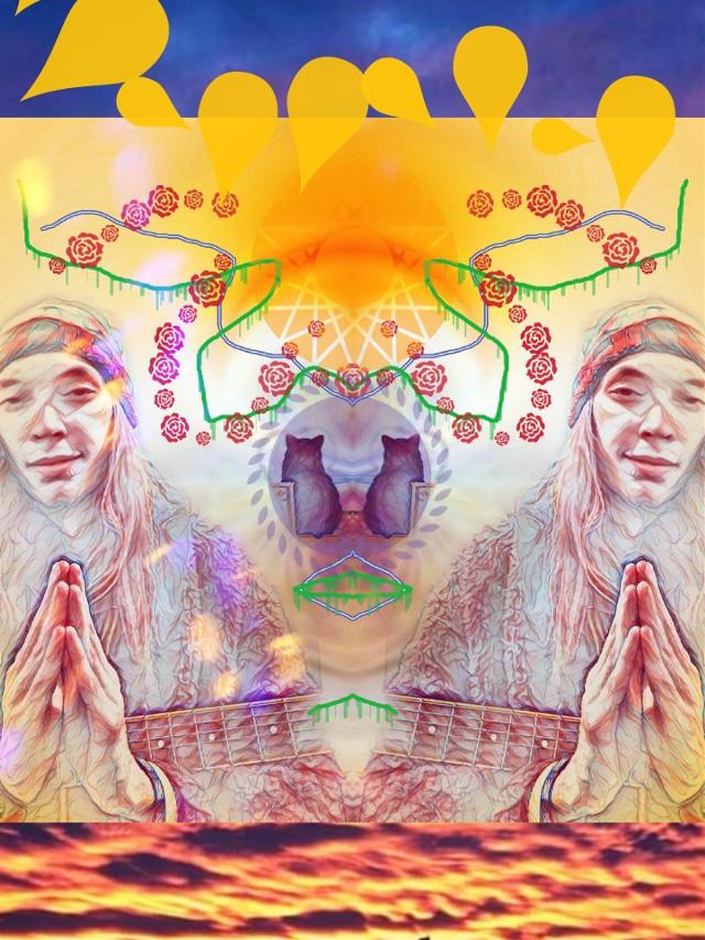 #freetoedit #abstract #remix #photoeditart #feline #rainbowcat