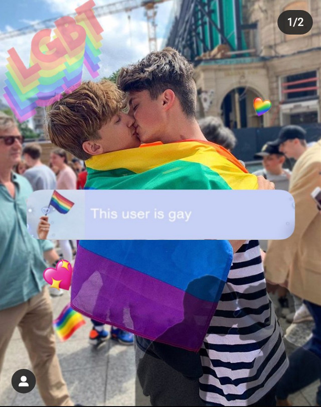 "Hey this is an edit from ""This user is ..."" Look at my Instagram and you'll see the entire post @iichickenguyx . What do you think?❤️🌈🏳️‍🌈 #pride #gay #couplegoals #lgbt #loveislove #edit #teamleon #proud #leoncontent #beyourself #strong"