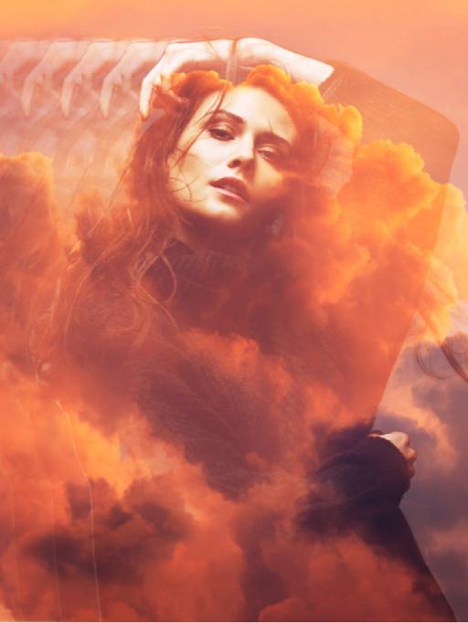 #freetoedit #девушка #движение #клон #огонь #небо #оранжевый #красный #закат #girl #move #clone #sky #cloud #sunset