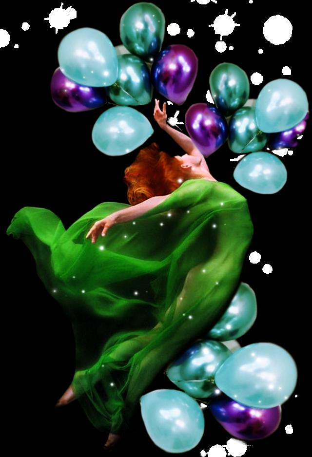 #desafío #globo #globos #sticker #desafiopicsart #mujer #vestidoverde  #scballoons #balloons
