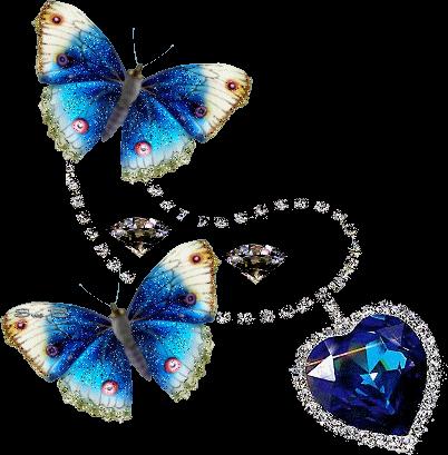 #blueheart #butterflies