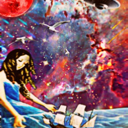 freetoedit space fantasyart galaxy oilpainting