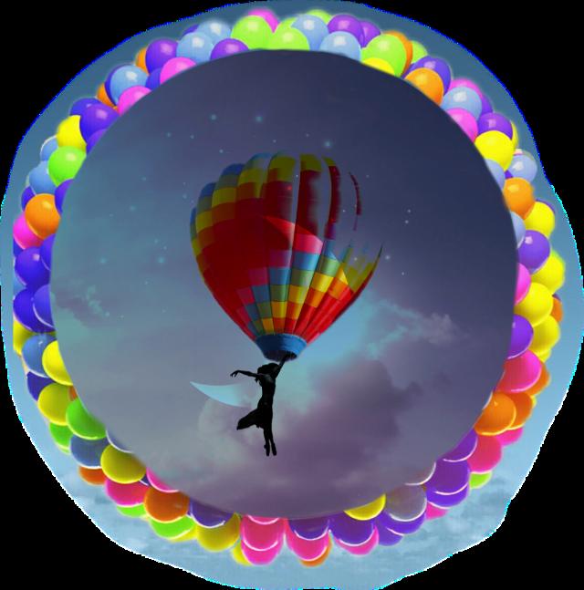 A girl dreams to go on moon with a rainbow balloon #baloon #picsartchallenge #moon#rainbowballon @nareshm09