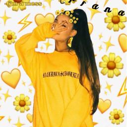 arianagrande yellow sunflowers sunflowercrown arianagrandeedit