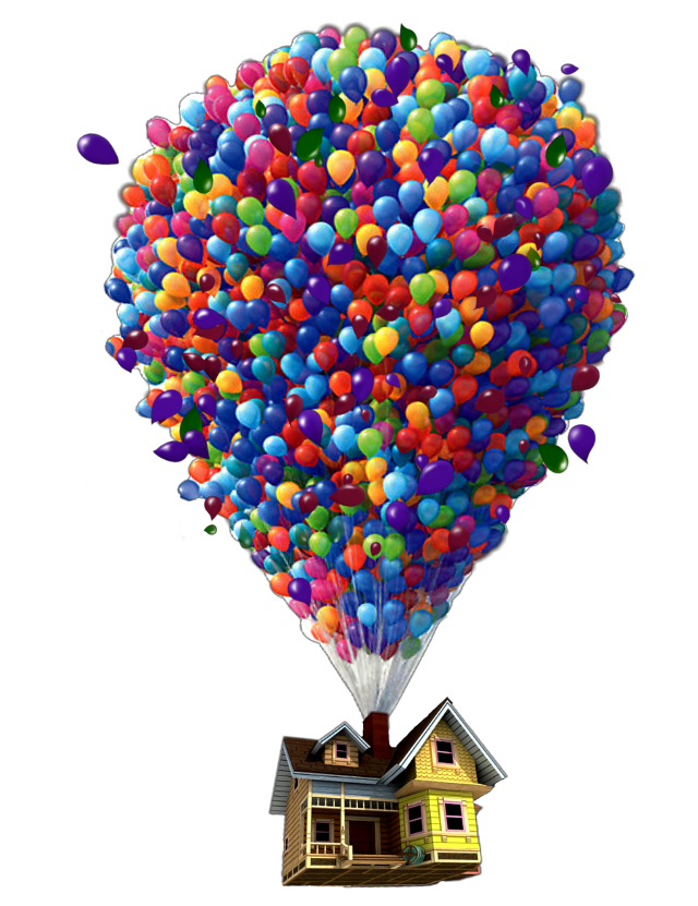#balloon #fly #home #house #red #mix #balloons