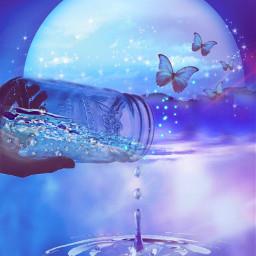freetoedit picsartchallenge finephotography bluenight water ircemptyjar emptyjar