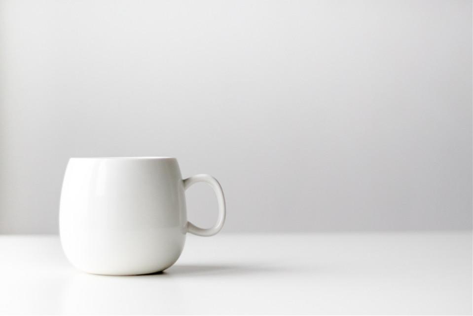 Blow us away with your remix! Unsplash (Public Domain) #white #cup #tea #mug  #freetoedit