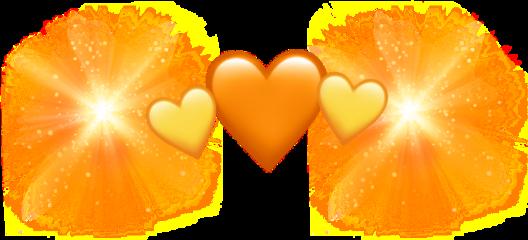 bakugo orange heart explosion heartcrown freetoedit