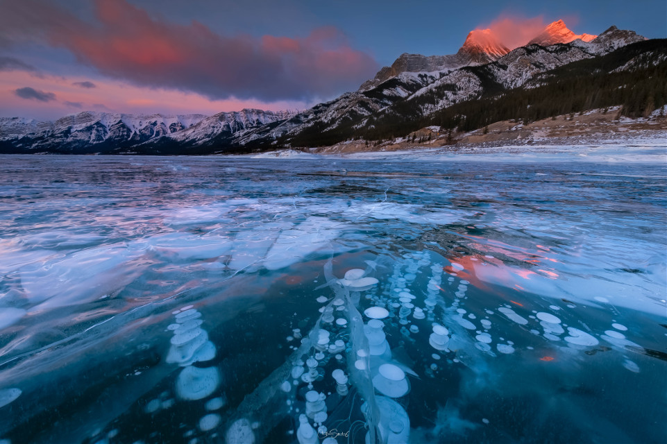 Abraham Lake,Canadian Rockies, 