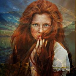 freetoedit fantasyart fantasy doubleexposure portrait