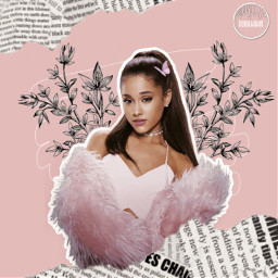 freetoedit arianagrande pink aesthetic newspaper scribble