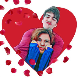 freetoedit valentinesday couple srcrosepetals rosepetals