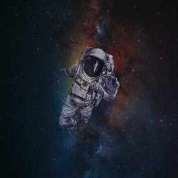 freetoedit astronaut space wallpaper stars