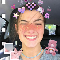 freetoedit charlidamelio pinkaesthetic emojicrown carebear