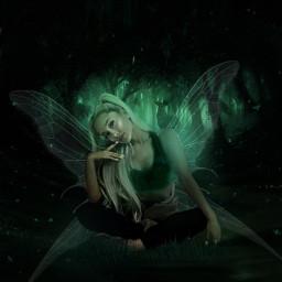 freetoedit arianagrande green black dangerouswoman