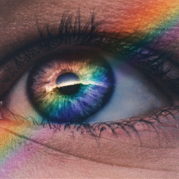 eye eyes rainbow freetoedit