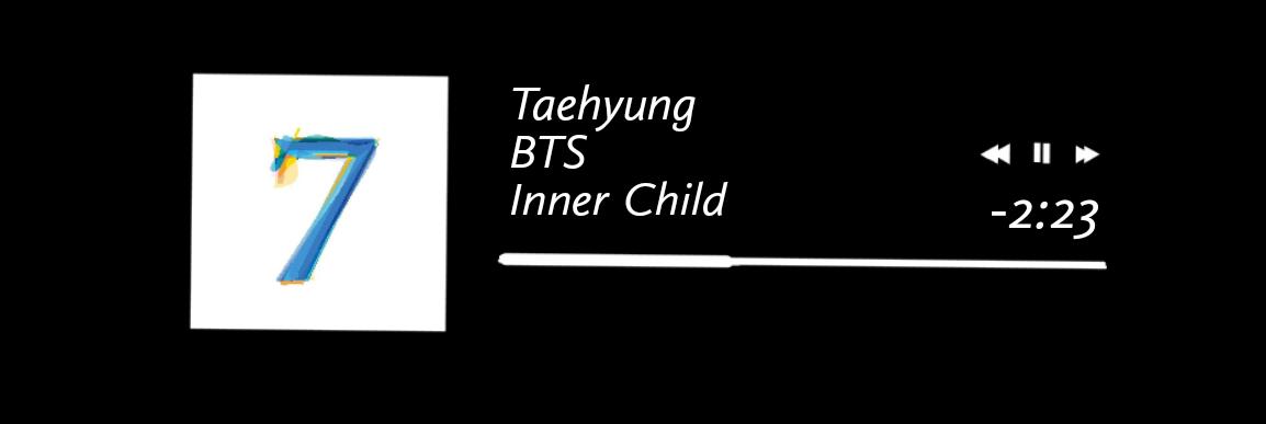 #innerchild #bts #music #btssong #btsv #btstaehyung #taehyung #Tae #Taehyungsong #mots7 #mapofthesoul #spotify #aesthetic #kth