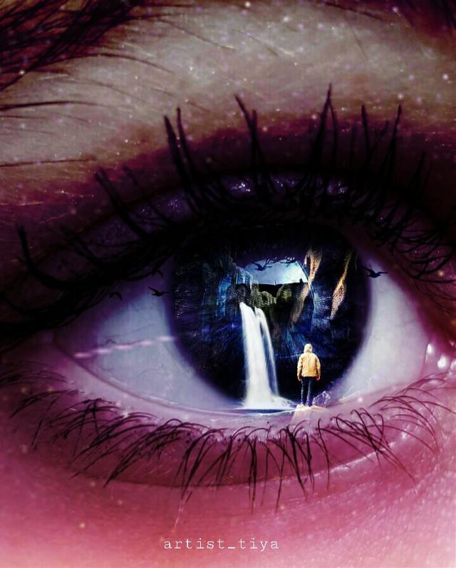 #freetoedit eye surrealism  #eye #eyecloseup #eyebrows #eyeball #eyesclosed #eyesurreal #eyesurrealism #eyecolor #birds #realism #reality #reality #realistic #retro #wallapaper #illustration #illusion