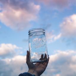 freetoedit jar clouds sky