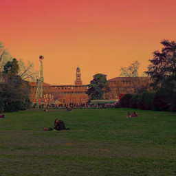 freetoedit sunset castellosforzesco milan