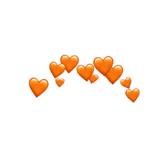 orange hearts emoji crown aesthetic freetoedit