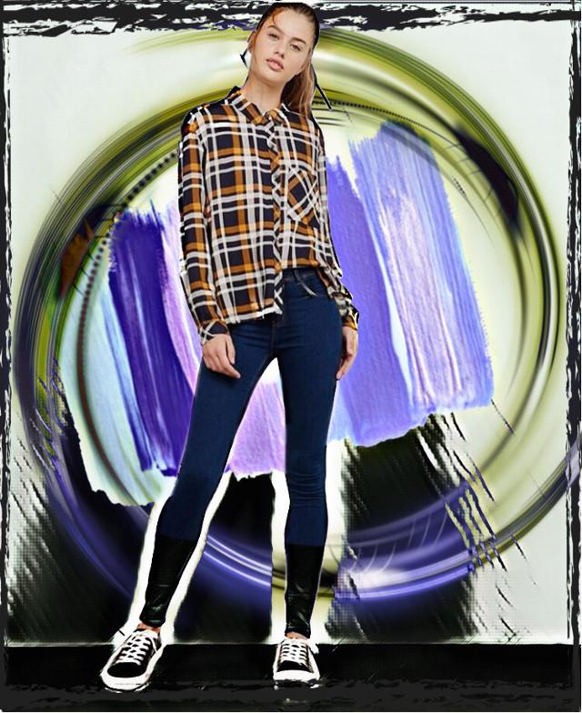 #freetoedit #circle #onda #moda #fashion #women #ropa #jeans #colors #violeta #rayas #luz #destello #zapatillas #camisa #model #top #fashion