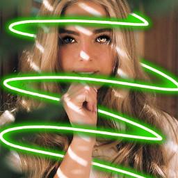 freetoedit green eyes neon neonspiral