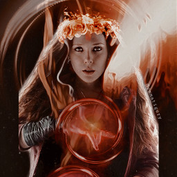 wandamaximoff wanda marvel red scarletwitch scarlet freetoedit srcneoncircle neoncircle