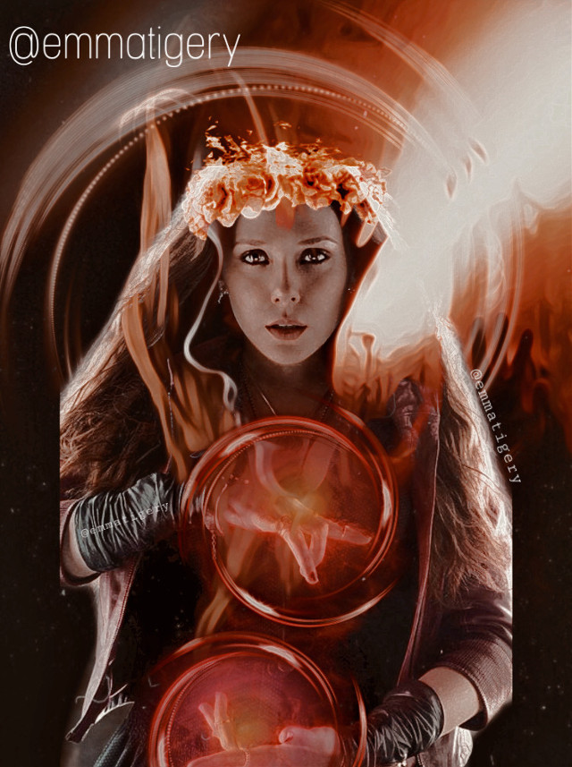 🔥🔥🔥 #wandamaximoff #wanda #marvel #red #scarletwitch #scarlet #endgame #fire #vote #neon #witch #queen #superhero #power  #freetoedit