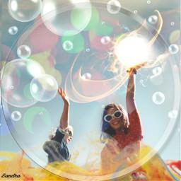 freetoedit happyness friendship bubbles sun ircsoakingupthesun