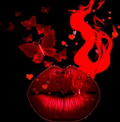lips redlips imagination smoke smokeeffect freetoedit