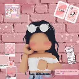roblox robloxedit robloxgirl robloxcharacter pink freetoedit