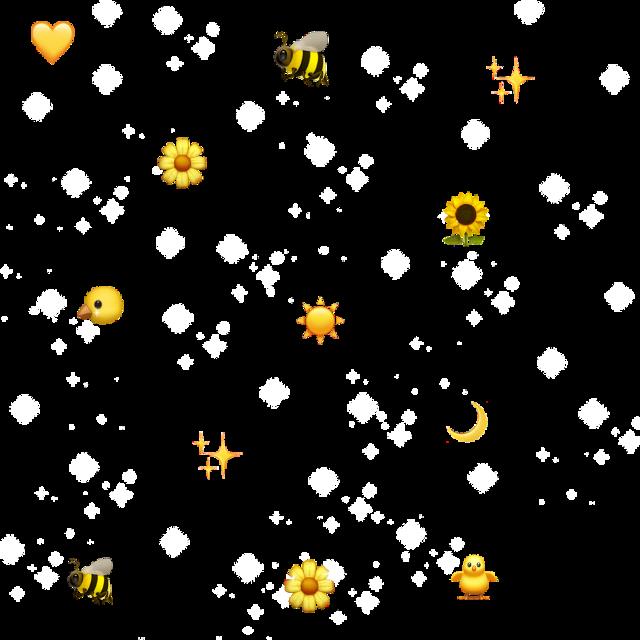 #emoji #background #cute #aesthetic #bee #yellow #sun #sticker #trending