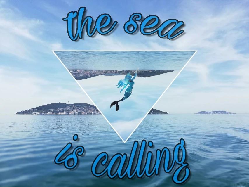 #mar #sea #sirena #siren #azul #blue #edit