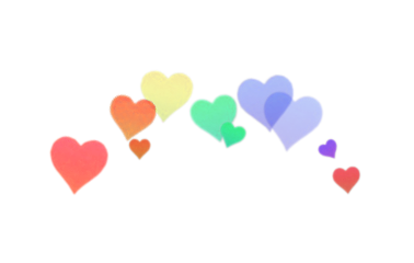crownstickerremix heartemoji hearts rainbow tumblr freetoedit