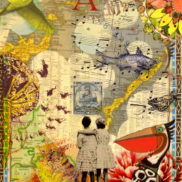 freetoedit airmail bestfriends collageart postalart