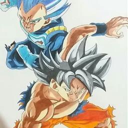 freetoedit goku dragbball draw anime
