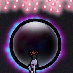 freetoedit pinklight brokengirl circles