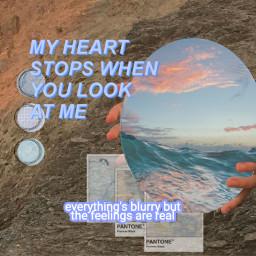 mirror aes aesthetic wave waves freetoedit