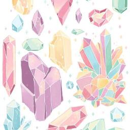pastel crystals diamond jewel gem