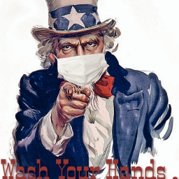 coronavirus poster warning unclesam freetoedit