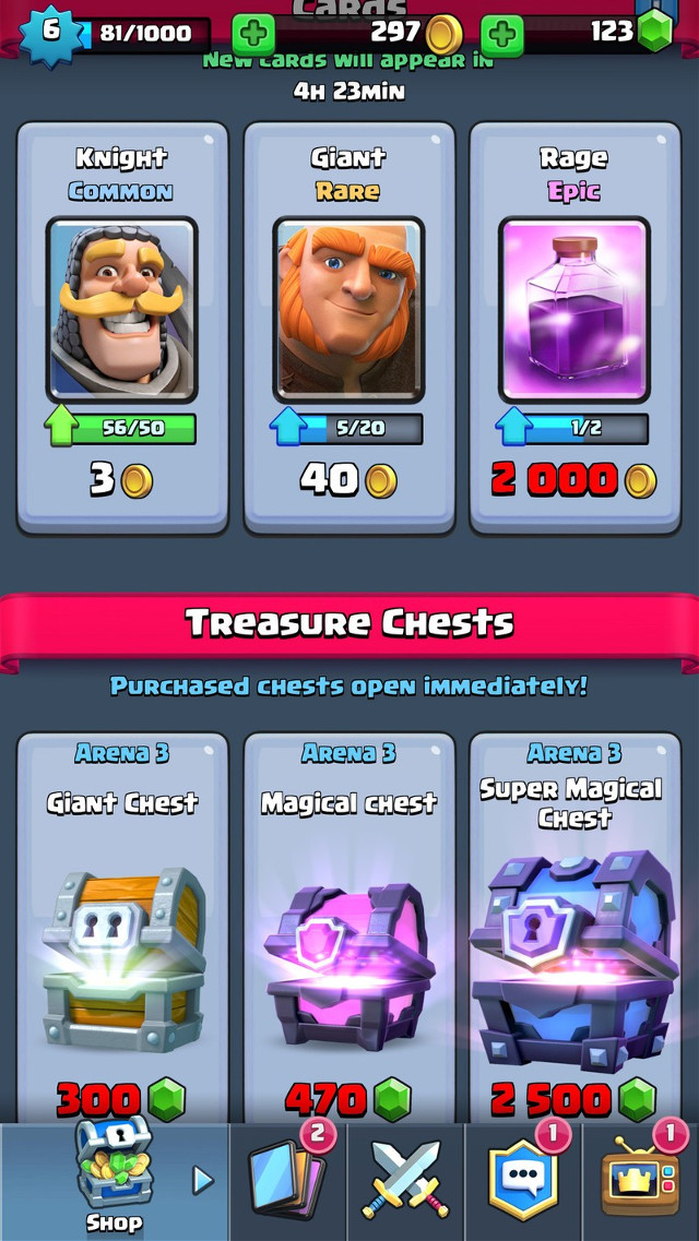"""Cheats Clash Royale - What You Need To Know About    Cheats Clash Royale - What You Need To Know About ->>->>->> http://bytlly.com/18hpq1        Read: Clash Royale Update: 7 Things We Want Next ... Be careful not to over-level one card too much, as you never know when an update will make it ... Take note though, cheats don't work in Clash Royale, so don't try them.. You can check the complete post detail of Clash Royale APK Latest Version from this website.Know the features of Clash Royale APK Latest Version for androids.. If you've discovered a cheat you'd like to add to the page, or have a ... your rank and allow you to play against more capable players and learn.... ... Royale clan wars. Cheats and Tricks ... Then we tell you everything you need to know about Clash Royale's clan wars. Recently, Supercell.... Archer clash royale a pair of unarmored ranged attackers. They'll help you with ground and air unit attacks, but you're on your own with coloring your hair. Bomber.... However, to be successful in Clash Royale, you should follow these guidelines: ... Know your elixir averages so you can figure out how much time it takes to get your cards down. ... There are as yet no cheats for Clash Royale.. Best tips, tricks, and cheats used by players to win most battles in the popular mobile game """"Clash Royale."""" Find out what are the most.... In this pdf you are able to well known about the all info about clash of royals . and also learn the tricks in Clash Royale Hack & Cheats For Gems. ... Hack to get new legendary cards in the store Do you want to have your hands.... This article has highlighted some of the best Clash Royale cheats, hints and tips, though there are many others you should know.. Clash Royale Hack Cheats Jan 05, 2020 · Getting free Robux means not spending any money, but you need to understand that Robux might be an in-game.... Supercell's Clash Royale is wargaming in microcosm, and our Clash Royale tips and ... You must carefully consider the units you """