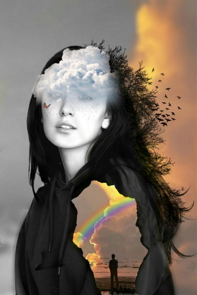#freetoedit #clouds #women #mauraedit #srcheadintheclouds